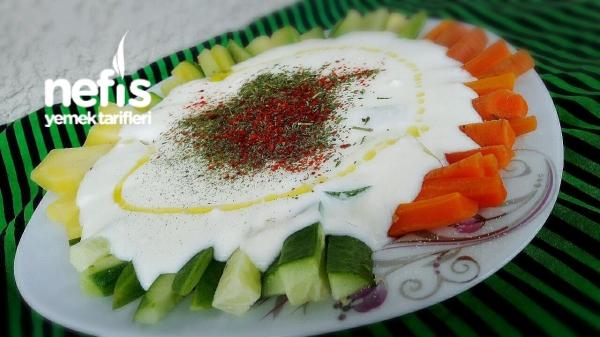 Nefis Yoğurtlu Sebze Mezesi(diyete Uygun)
