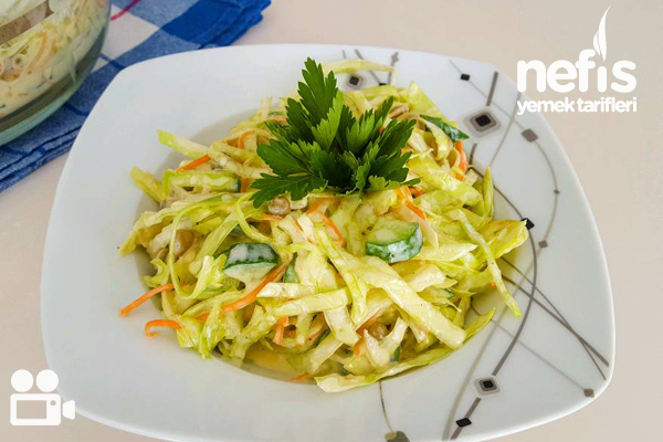 Beyaz Lahana Salata Videosu