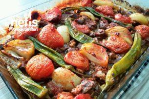 Fırında Sebzeli Lokum Et Tarifi