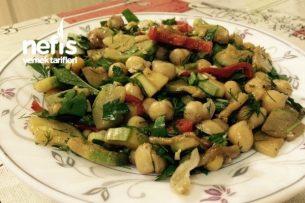 Zeytinyağlı Kabaklı Nohut Salatası Tarifi
