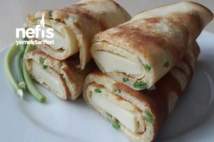 Yeşil soğanlı Krep (Kahvaltılar İçin Mükemmel) Tarifi