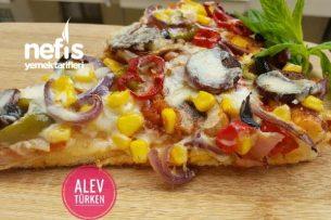 En Bol Malzemeli Tepsi Pizzası (Şahane) Tarifi
