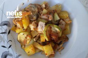 Patatesli Patlıcanlı Kabaklı Fırında Türlü Tarifi