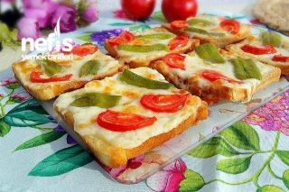 Pizza Poğaça Tadında Kahvaltılık Dilimler Tarifi