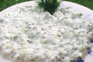 Yoğurt Mezesi (Salatalıklı Dereotlu) Tarifi