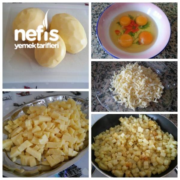 Kaşarlı Yumurtalı Patates Omleti