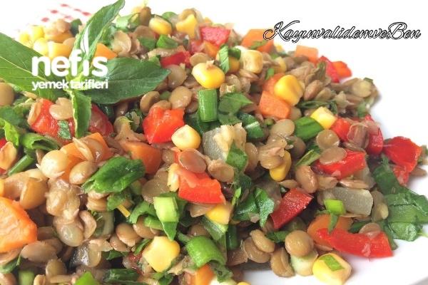 Yeşil Mercimek Salatası (Videolu)