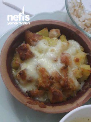 Güveçte Kremalı Patates Tavuk
