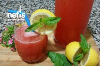 5 Dk Sağlıklı Çilekli Limonlu İçecek (Enfes ) Tarifi