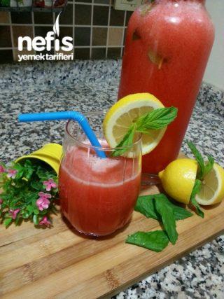 5 Dk Sağlıklı Çilekli Limonlu İçecek (enfes )