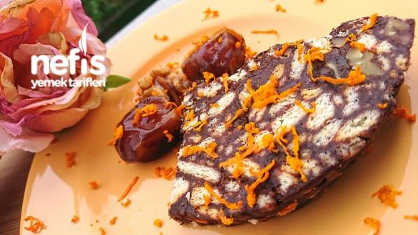 Hurmalı Cevizli Portakallı Mozaik Pasta