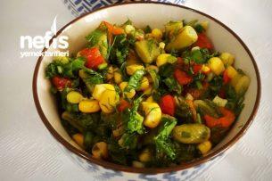 Biberli Yeşil Fasulye Salatası Tarifi