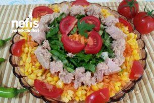 Nefis Ton Balıklı Diyet Salata Tarifi