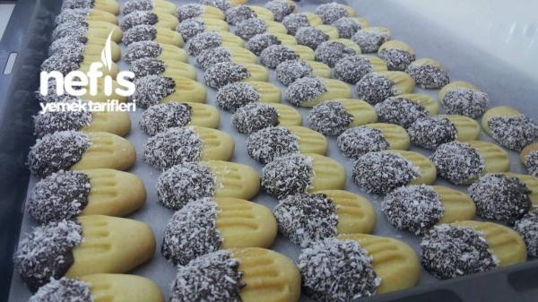 Bisküvi Tadında Çikolatalı Kurabiye