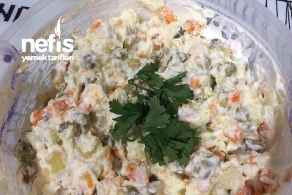 Yedikçe Yedirten Rus Salatası Tarifi