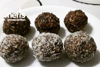 Hurmalı Kakaolu Diyet Toplar Tarifi