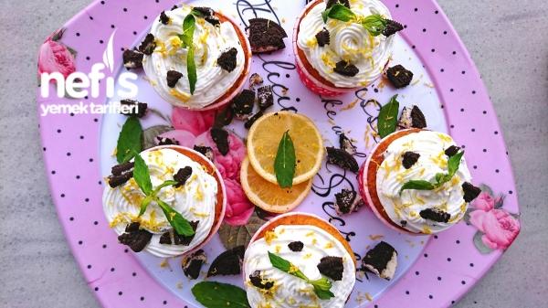 Limonlu Oreolu Pamuk Cupcake