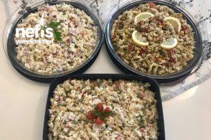 Makarna Salatası ( 1 Paketle 3 Çeşit) Çok Leziz Tarifi
