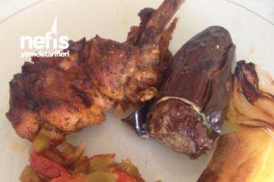 Patlıcan ve Tavuk Kebabı (İkisi Bir Arada ) Tarifi