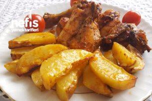 Fırında Leziz Tavuk Patates Tarifi