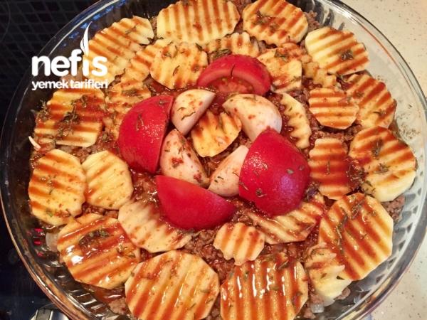 Kıymalı Köz Patlıcan Kebabı (lokum Gibi)