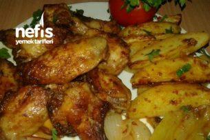 Fırında Soslu Kanat Patates (Mangal Tadında Nefis) Tarifi