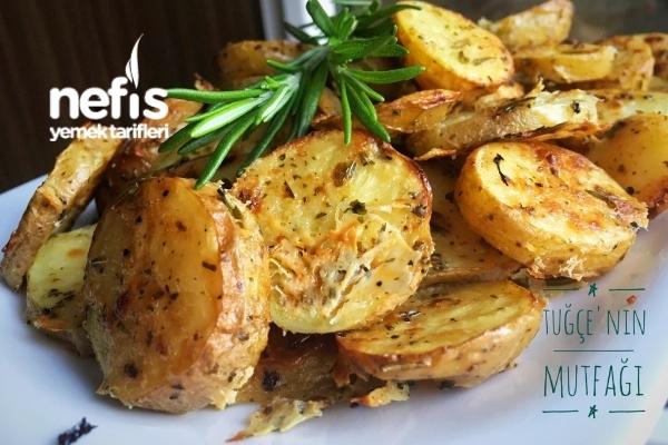Fırında Özel Soslu Patates (Cips Gibi) Tarifi
