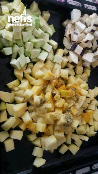 Firinda Sebzeli (etsiz) Türlü Yemegi(cok Pratik)