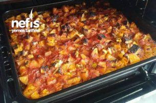 Fırında Sebzeli (Etsiz) Türlü Yemeği ( Çok Pratik) Tarifi