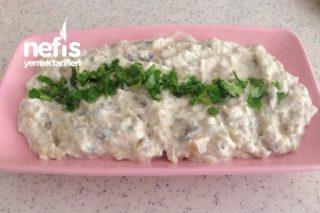 Labneli Köz Patlıcan Salatası Tarifi