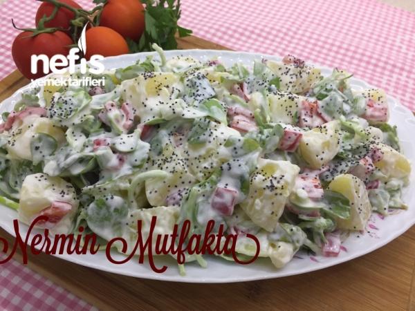 Patatesli Semizotu Salatası(çok Lezzetli)