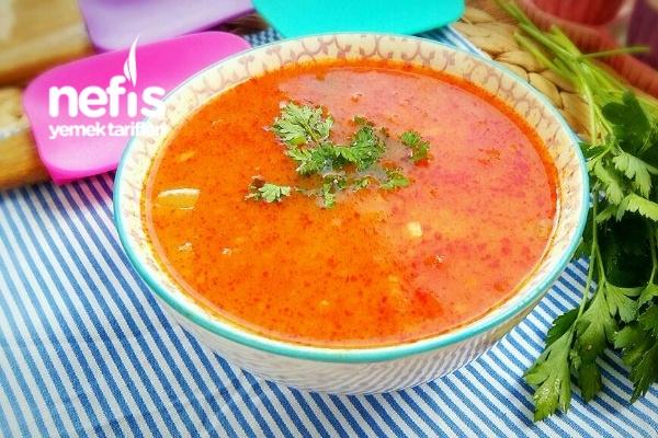 Sebzeli Mis Gibi Tarhana Çorbası Tarifi