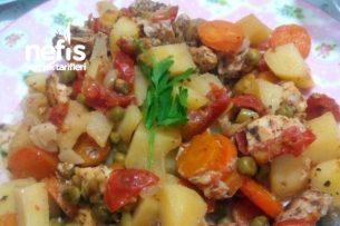 Pişirme Kağıdında Sebzeli Tavuk Tarifi