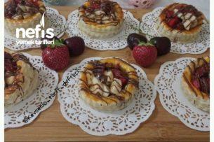 Meyveli Çikolatalı Milföy Çanakları (Muhteşem Lezzet) Tarifi