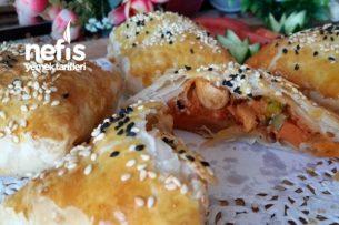 Tavuklu Garnitürlü Nefis Talaş Böreği ( Çok Pratik) Tarifi