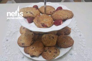 Hindistan Cevizli Çilekli Çikolatalı Cookie Tarifi