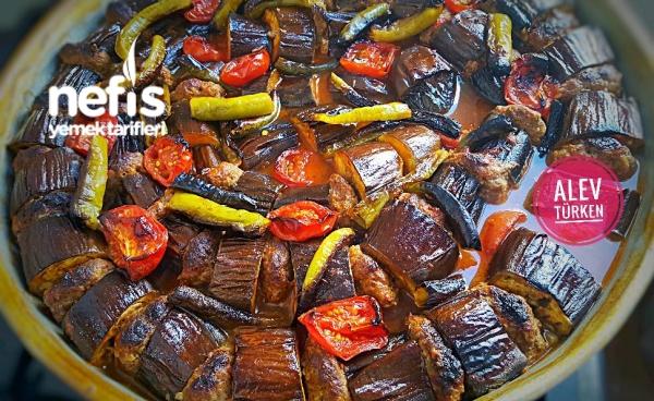Pratik Fırında Köfteli Patlıcan Dizme (lezzeti Şahane)