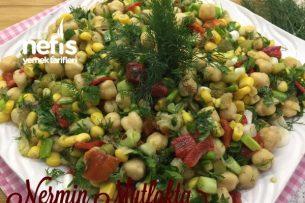 Köz Patlıcanlı Nohut Salatası Tarifi
