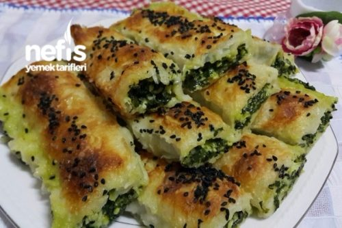 Ispanaklı Çıtır Rulo Börek Tarifi