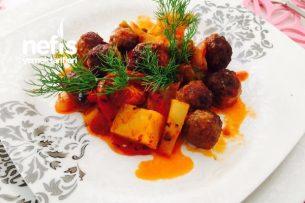 Misket Köfteli Fırın Kebabı Tarifi