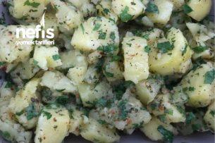 Az Malzeme Çok Lezzet Patates Salatası Tarifi