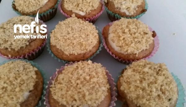 Cevizli Muzlu Beyaz Çikolatalı Mini Muffin