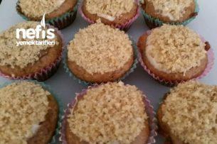 Cevizli Muzlu Beyaz Çikolatalı Mini Muffin Tarifi