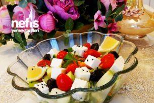 Yeşil Elmalı Ve Beyaz Peynirli Yaz Salatası Tarifi