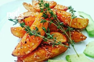 Paprikalı Susamlı Patates Dilimleri Tarifi