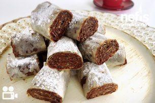 Çikolatalı Çıtır Rulo Videosu Tarifi