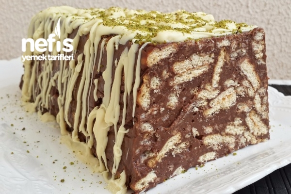3 Malzemeli Pudingli Mozaik Pasta