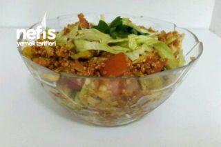 Düşük Kalorili Protein Kısır (Kinoalı Kısır) Tarifi