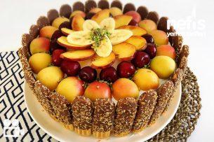 Meyveli Kolay Yaş Pasta Videolu Tarifi