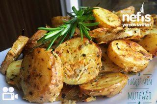 Fırında Özel Soslu Patates (Cips Gibi) Videolu Tarifi